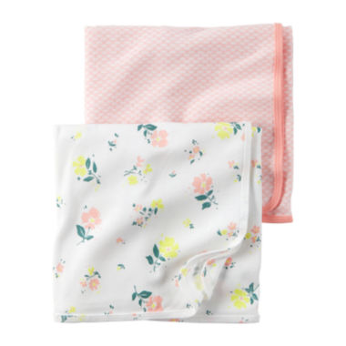 jcpenney.com | Carter's® 2-pk. Pink Floral Swaddle Blankets - Baby Girl newborn-24m