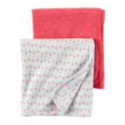 Carter's® 2-pk. Pink Geo Swaddle Blankets - Baby Girl newborn-24m