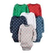 Carter's® 6-pk. Long-Sleeve Multi-Print Bodysuits - Baby Boys newborn-24m