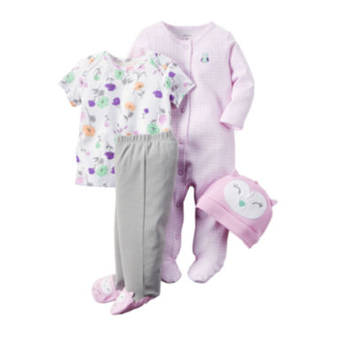 jcpenney.com | Carter's® 4-pc. Purple Owl Layette Set - Baby Girls newborn-24m