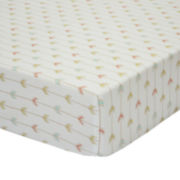 The Peanut Shell® Little Haven Clever Fox Fitted Crib Sheet