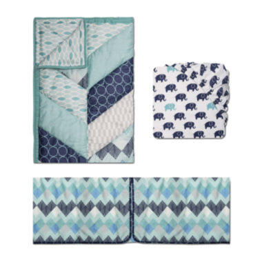 jcpenney.com | The Peanut Shell® 3-pc. Mosaic Crib Bedding Set