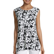 Liz Claiborne® Sleeveless Swing Top