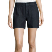Liz Claiborne® Denim 5-Pocket Shorts - Tall