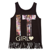 Total Girl® Fringe Tank Top - Girls 7-16 and Plus