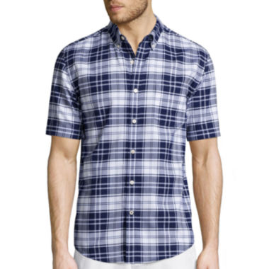 jcpenney.com | St. John's Bay® Short-Sleeve Easy-Care Oxford Sports Shirt