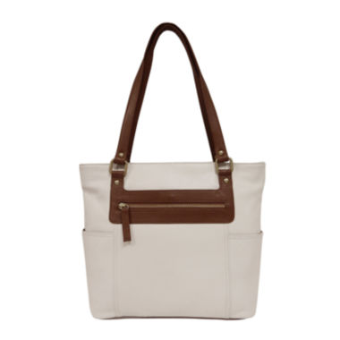 jcpenney.com | St. John's Bay® Two-Tone Leather Tote