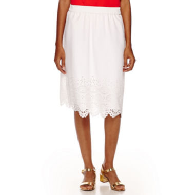 jcpenney.com | Liz Claiborne® Laser-Cut Pull-On Skirt
