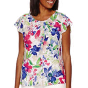 Liz Claiborne® Short-Sleeve Blouse with Cami