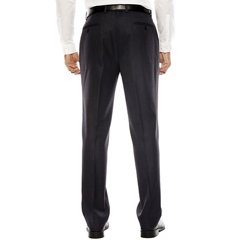 Claiborne® Sharkskin Flat-Front Dress Pants - Classic