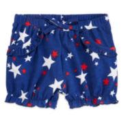 Okie Dokie® Americana Shorts - Baby Girls newborn-24m