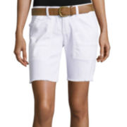 UNIONBAY® Belted Cargo Bermuda Shorts