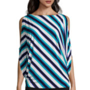 Worthington® Cold Shoulder 3/4 Sleeve Top