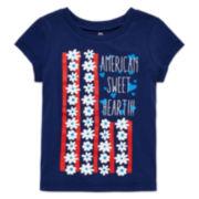 Okie Dokie® Short-Sleeve American Tee - Baby Girls newborn-24m