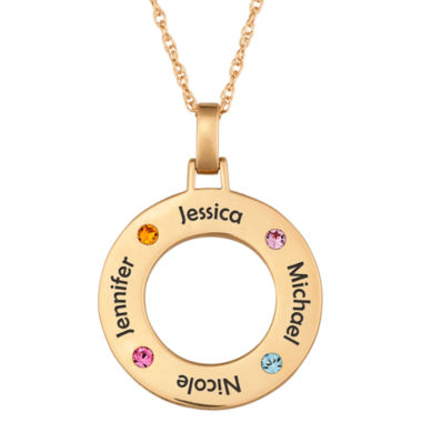 jcpenney.com | Personalized Family Name and Birthstone Pendant Necklace