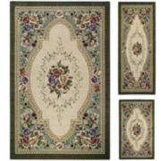 Estate Rose 3-pc. Rug Set
