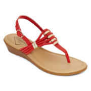 St. John's Bay® Gena T-Strap Sandals