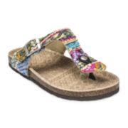 MUK LUKS® Violet Terra Turf T-Strap Sandals
