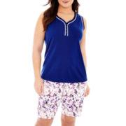 Liz Claiborne® Tank Top and Bermuda Shorts - Plus
