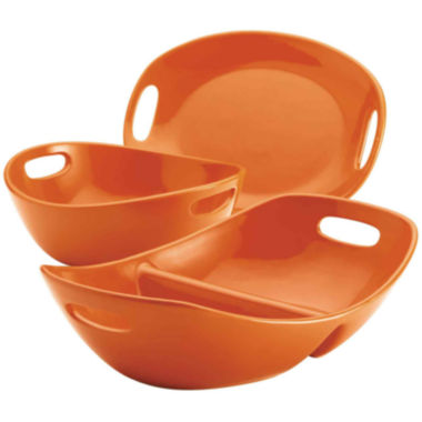 jcpenney.com | Rachael Ray® 3-pc. Serving Bowls and Platter Stoneware Serving Set