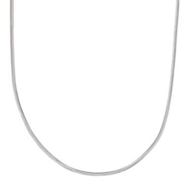 "jcpenney.com | Silver Reflections™ Sterling Silver Flat Matte Snake 16"" Chain Necklace"