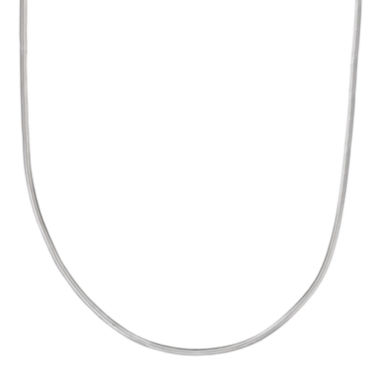 "jcpenney.com | Silver Reflections™ Sterling Silver Flat Matte Snake 24"" Chain Necklace"