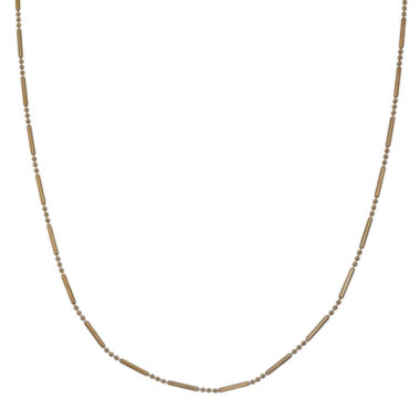 jcpenney.com | Silver Reflections™ Gold Over Sterling Silver Bar & Bead Chain Necklace