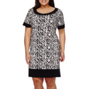 Ronni Nicole Short-Sleeve Print T-Shirt Dress - Plus