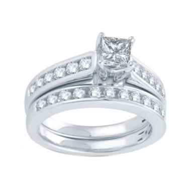jcpenney.com | LIMITED QUANTITIES 1 1/2 CT. T.W. Diamond 14K White Gold Bridal Set