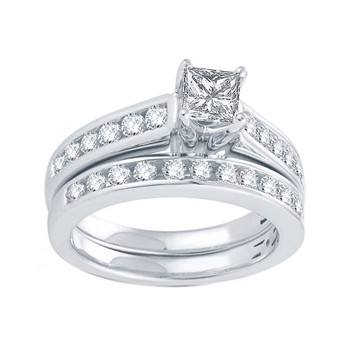 LIMITED QUANTITIES 1 1/2 CT. T.W. Diamond 14K White Gold Bridal Set