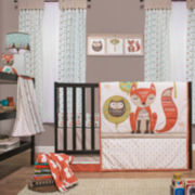 The Peanut Shell® 4-pc. Little Haven Clever Fox Crib Bedding Set