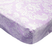 The Peanut Shell® Petit Tresor Papillion Fitted Crib Sheet