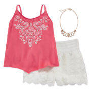 Beautees 2-pc. Tank Top and Shorts Set - Girls 7-16