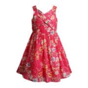 Emily West® Sleeveless Coral Pin Dot Dress - Girls 7-16