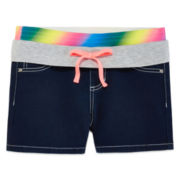 Squeeze Rainbow Stretch-Denim Shorty Shorts - Girls 7-14