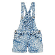 Squeeze Star-Print Shortalls - Girls 7-14