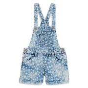 Squeeze Star-Print Shortalls - Girls 7-14