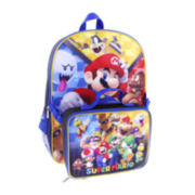 Super Mario Backpack with Lunch Kit - Boys