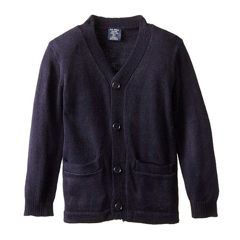 U.S. Polo Assn.® Long-Sleeve V-Neck Cardigan - Preschool Boys 4-7