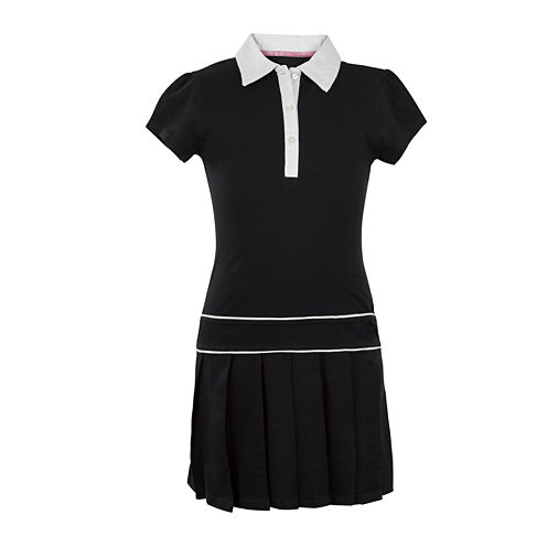 U.S. Polo Assn.® Button-Front Pleated-Bottom Dress - Preschool Girls 4-6x