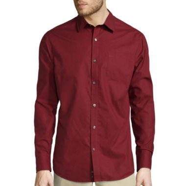 jcpenney.com | Claiborne® Long-Sleeve Slim-Fit Woven Shirt