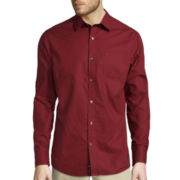 Claiborne® Long-Sleeve Slim-Fit Woven Shirt