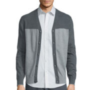 Claiborne® Long-Sleeve Block Cardigan