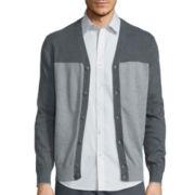 Claiborne® Long-Sleeve Block Cardigan