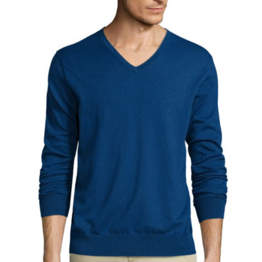 jcpenney.com | Claiborne® Long-Sleeve Thermolite V-Neck Sweater