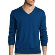 Claiborne® Long-Sleeve V-Neck Sweater