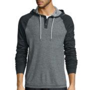Levi's® Lacer Raglan Pullover Long-Sleeve Woven Shirt