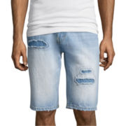 Akademiks® Lennox Destructed Denim Shorts