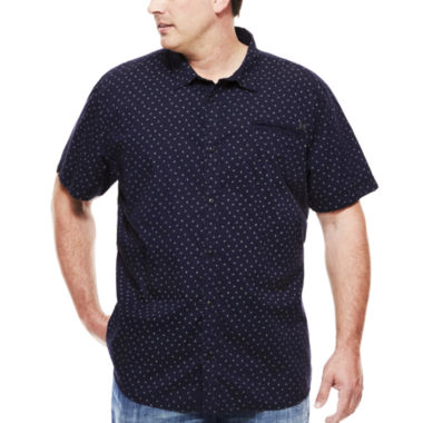 jcpenney.com | Mick Short-Sleeve Mini Dot Button-Front Shirt - Big & Tall