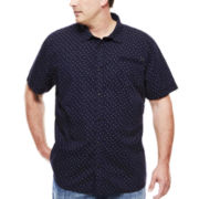 Mick Short-Sleeve Mini Dot Button-Front Shirt - Big & Tall